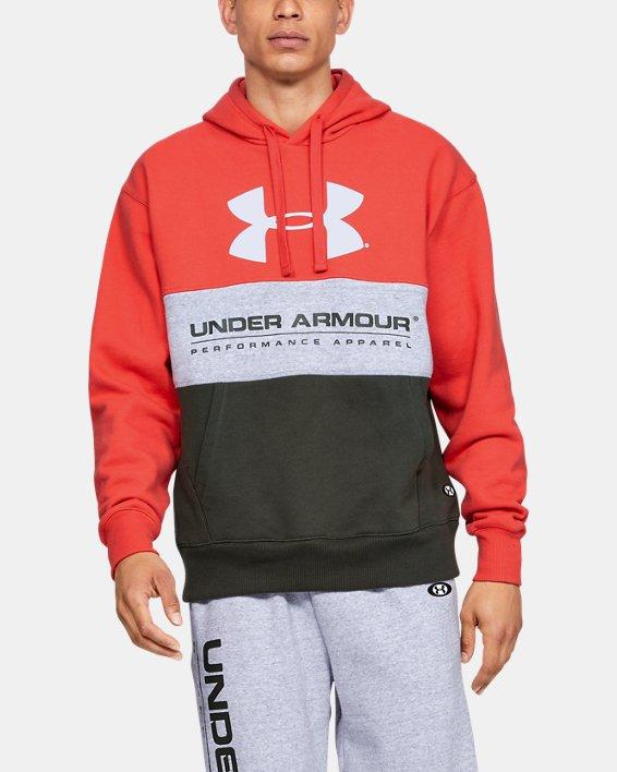Men's UA Performance Originators Fleece Logo Hoodie, Red, pdpMainDesktop image number 1