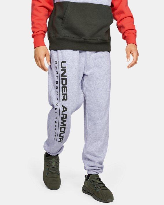 Men's UA Performance Originators Fleece Logo Pants, Gray, pdpMainDesktop image number 2