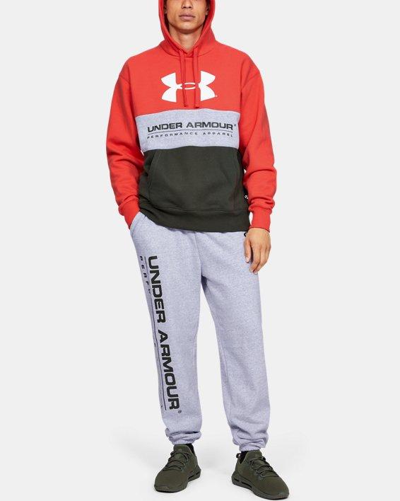 Men's UA Performance Originators Fleece Logo Pants, Gray, pdpMainDesktop image number 1