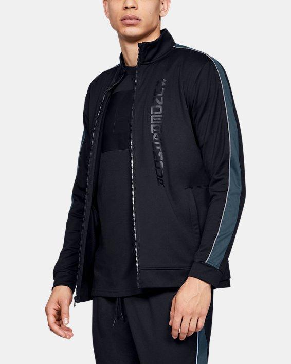 Men's UA Unstoppable Essential Track Jacket, Black, pdpMainDesktop image number 0