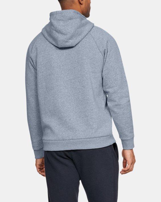 Men's UA Rival Fleece Logo Hoodie, Gray, pdpMainDesktop image number 2