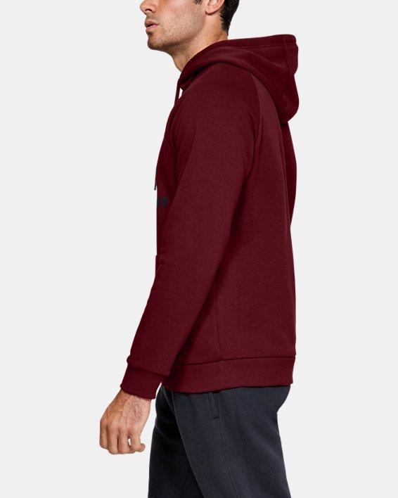 Men's UA Rival Fleece Logo Hoodie, Red, pdpMainDesktop image number 3