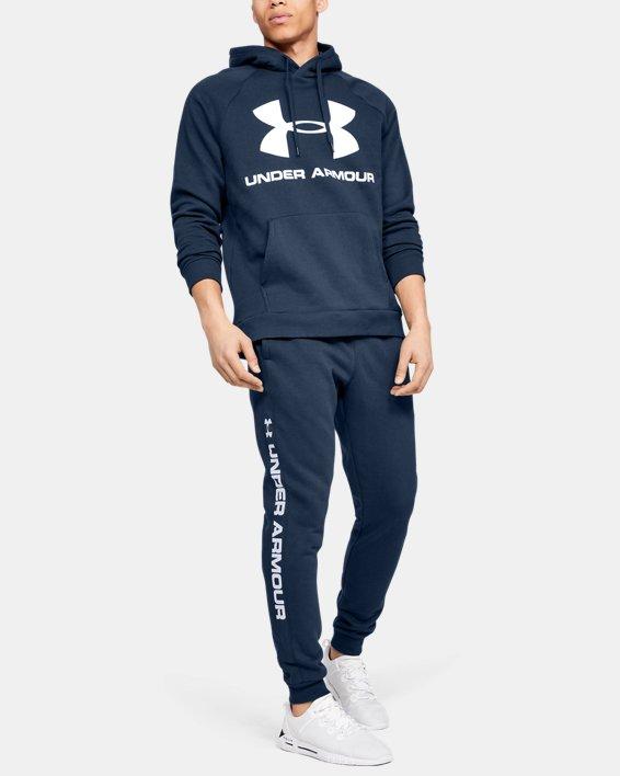 Men's UA Rival Fleece Logo Joggers, Navy, pdpMainDesktop image number 1