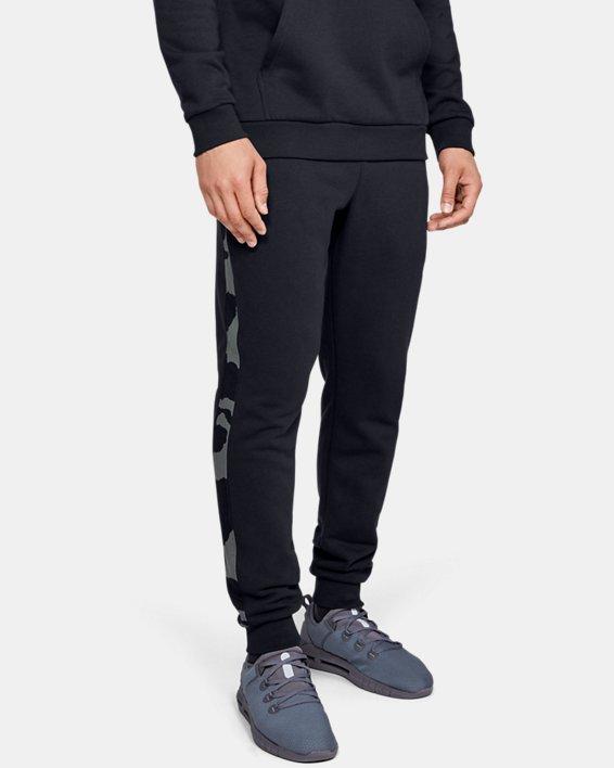 Men's UA Rival Fleece Printed Joggers, Black, pdpMainDesktop image number 1