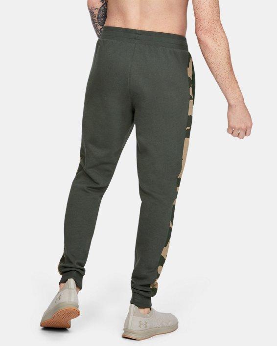Men's UA Rival Fleece Printed Joggers, Green, pdpMainDesktop image number 2