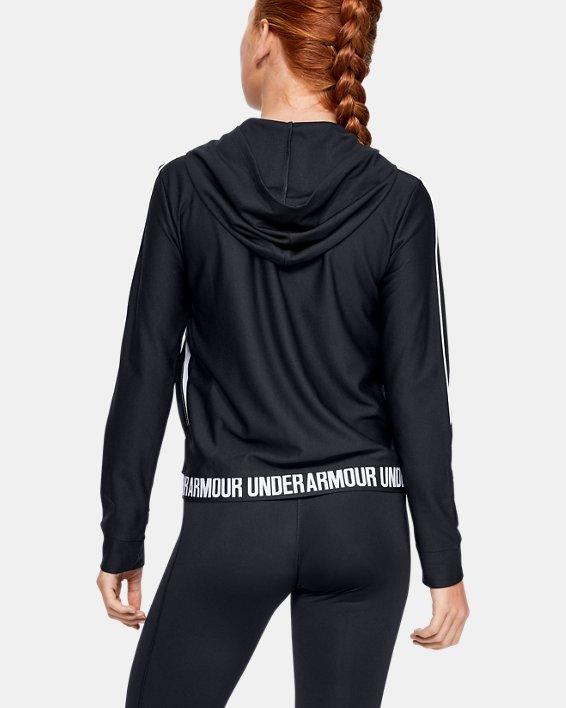 Girls' UA Play Up Full Zip Jacket, Black, pdpMainDesktop image number 2