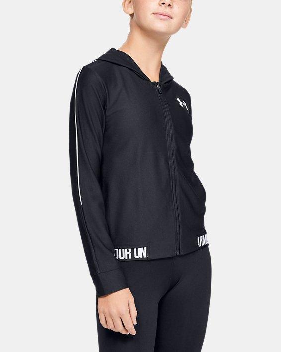 Girls' UA Play Up Full Zip Jacket, Black, pdpMainDesktop image number 0