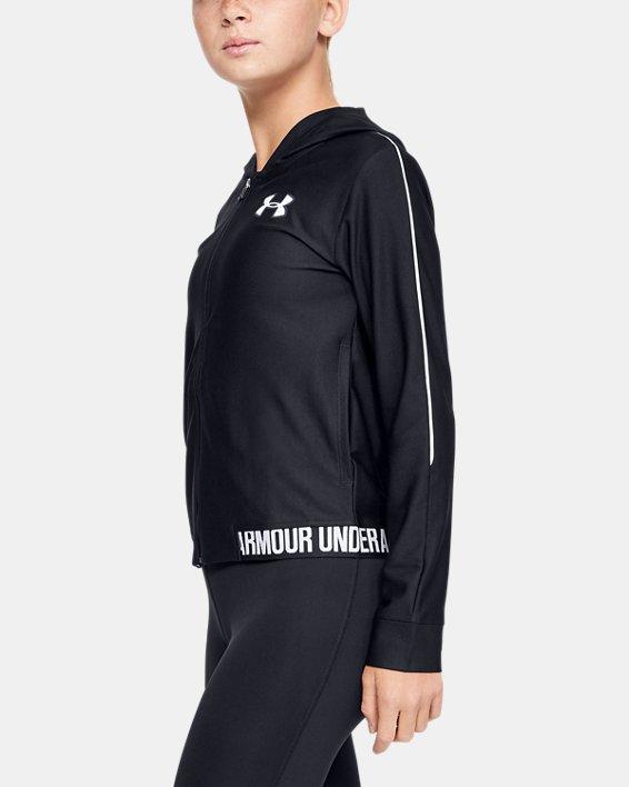 Girls' UA Play Up Full Zip Jacket, Black, pdpMainDesktop image number 3
