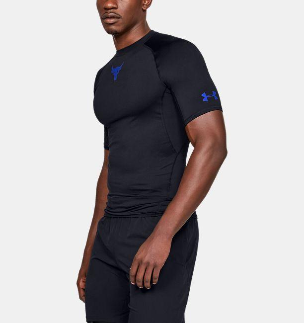 715b2833dea Men s UA x Project Rock HeatGear® Armour Short Sleeve