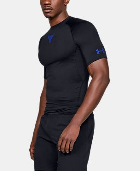 New Arrival Men's UA x Project Rock HeatGear® Armour Short Sleeve  1  Color Available $35