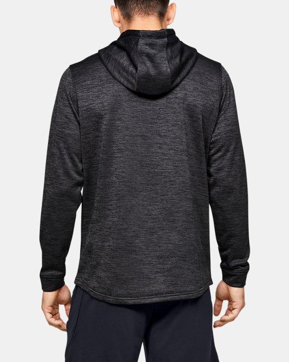Men's Armour Fleece® ½ Zip Hoodie, Black, pdpMainDesktop image number 2