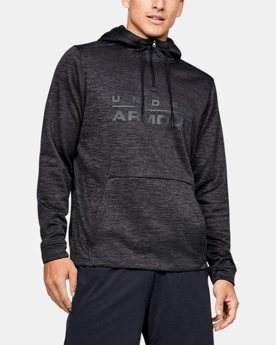 Men's Armour Fleece® ½ Zip Hoodie, Black, pdpMainDesktop image number 1