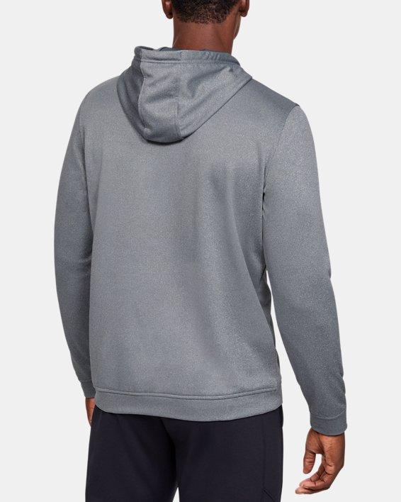 Men's Armour Fleece® Graphic Hoodie, Gray, pdpMainDesktop image number 2