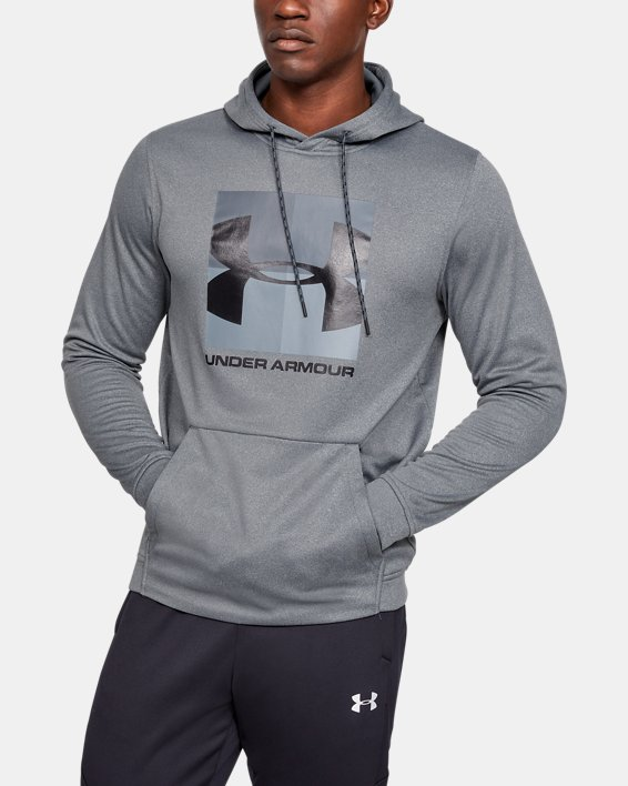 Men's Armour Fleece® Graphic Hoodie, Gray, pdpMainDesktop image number 0