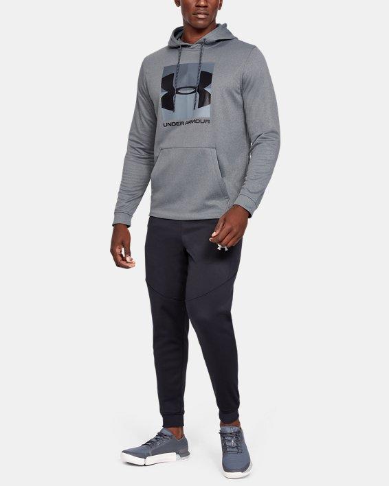 Men's Armour Fleece® Graphic Hoodie, Gray, pdpMainDesktop image number 1
