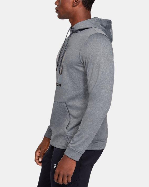 Men's Armour Fleece® Graphic Hoodie, Gray, pdpMainDesktop image number 3