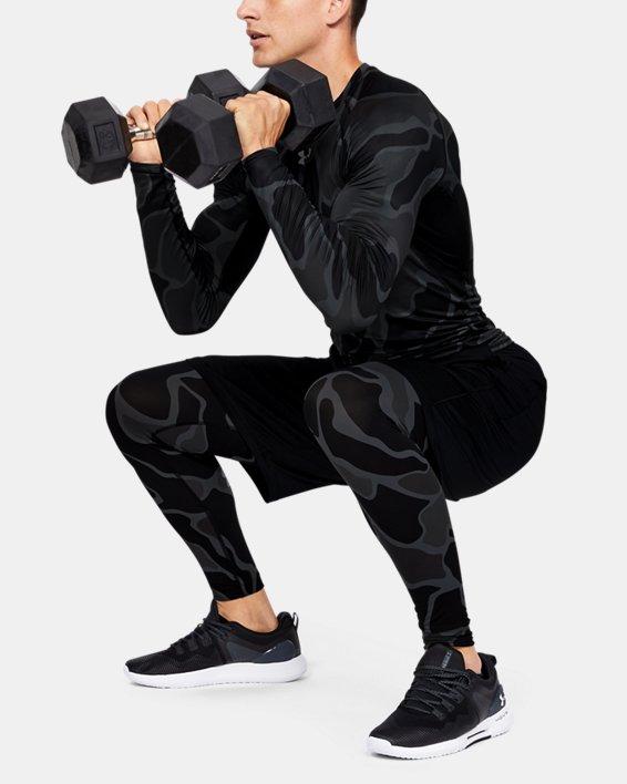 Men's HeatGear® Armour Long Sleeve Shirt, Black, pdpMainDesktop image number 0