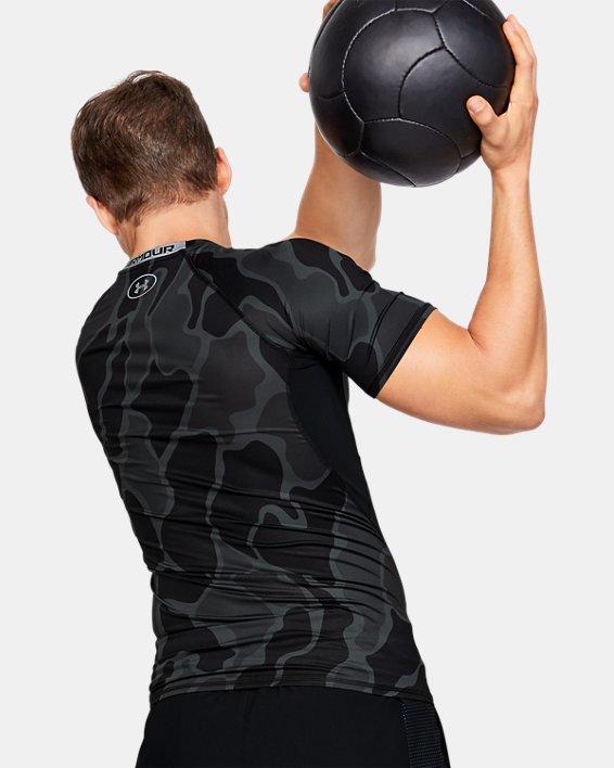T-shirt à manches courtes HeatGear® Armour pour homme, Black, pdpMainDesktop image number 2