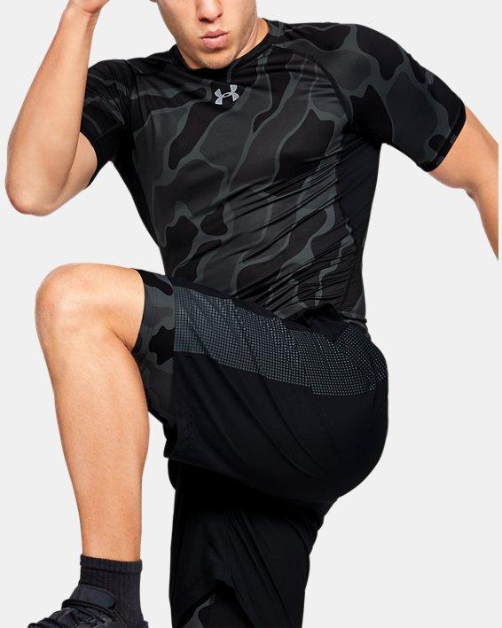 T-shirt à manches courtes HeatGear® Armour pour homme, Black, pdpMainDesktop image number 0