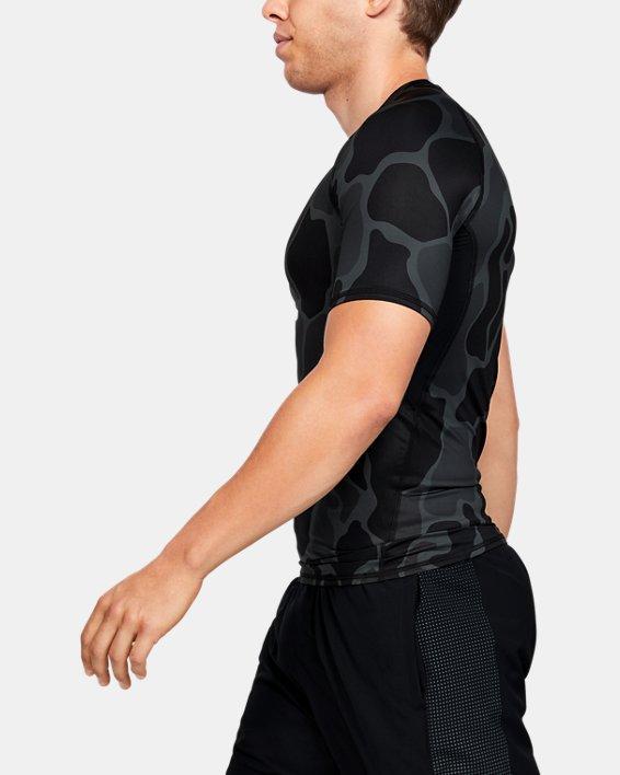 T-shirt à manches courtes HeatGear® Armour pour homme, Black, pdpMainDesktop image number 3