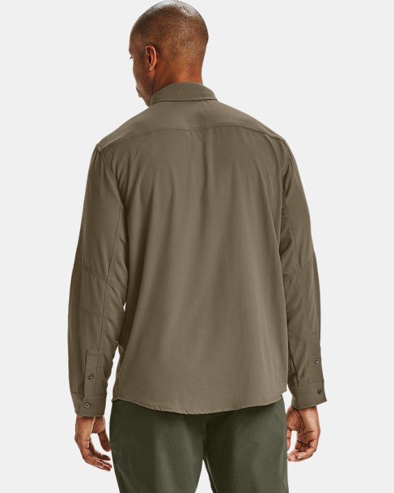 Men's UA Payload Button Down Shirt, Brown, pdpMainDesktop image number 2