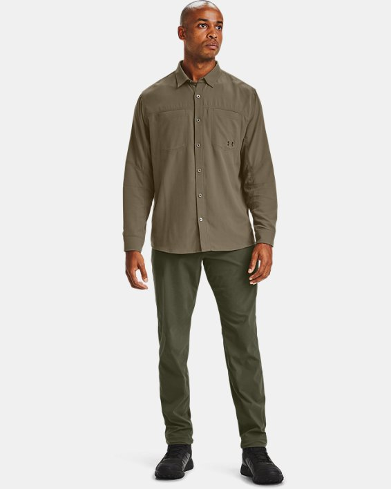 Men's UA Payload Button Down Shirt, Brown, pdpMainDesktop image number 0