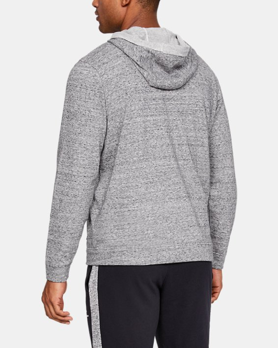 Men's UA Sportstyle Terry Full Zip, White, pdpMainDesktop image number 2