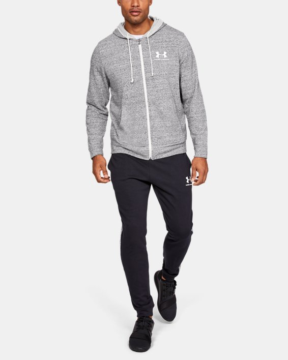 Men's UA Sportstyle Terry Full Zip, White, pdpMainDesktop image number 0