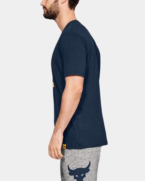 Men's Project Rock Above The Bar Short Sleeve T-Shirt, Navy, pdpMainDesktop image number 3