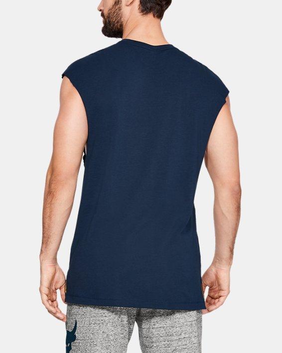 Men's Project Rock B.S.R. Cut-Off T-Shirt, Navy, pdpMainDesktop image number 2