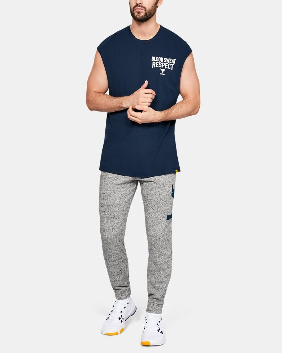 Men's Project Rock B.S.R. Cut-Off T-Shirt, Navy, pdpMainDesktop image number 0