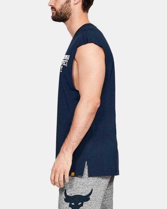 Men's Project Rock B.S.R. Cut-Off T-Shirt, Navy, pdpMainDesktop image number 3