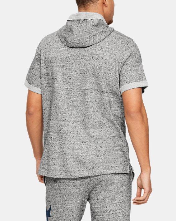 Men's Project Rock Terry Short Sleeve Hoodie, White, pdpMainDesktop image number 2