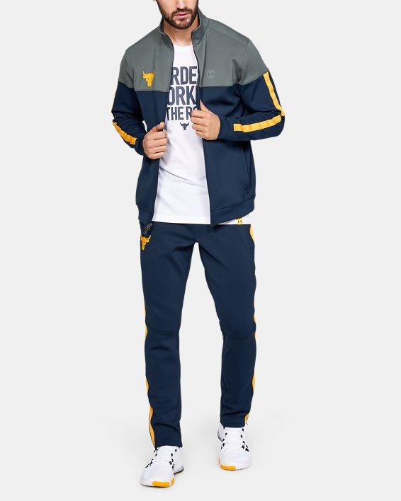 Men's Project Rock Track Jacket, Navy, pdpMainDesktop image number 0