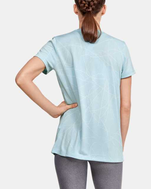 Women's UA Tech™ Defense Jacquard V-Neck Short Sleeve