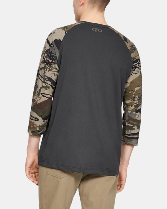Men's UA Camo Sleeve Utility T, Gray, pdpMainDesktop image number 2