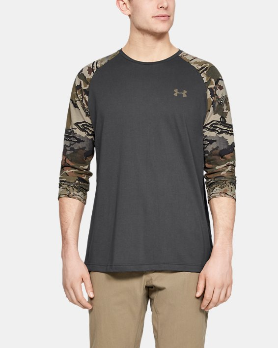 Men's UA Camo Sleeve Utility T, Gray, pdpMainDesktop image number 0
