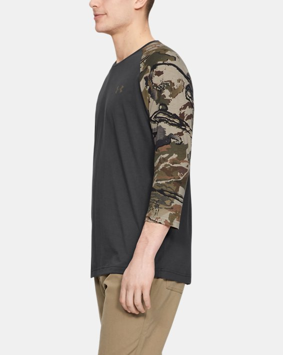 Men's UA Camo Sleeve Utility T, Gray, pdpMainDesktop image number 3