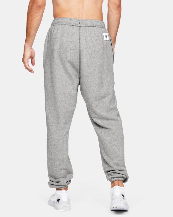 Men's Project Rock Warm-Up Pants, Gray, pdpMainDesktop image number 2