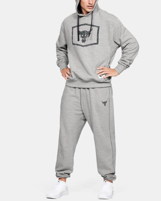 Men's Project Rock Warm-Up Pants, Gray, pdpMainDesktop image number 1