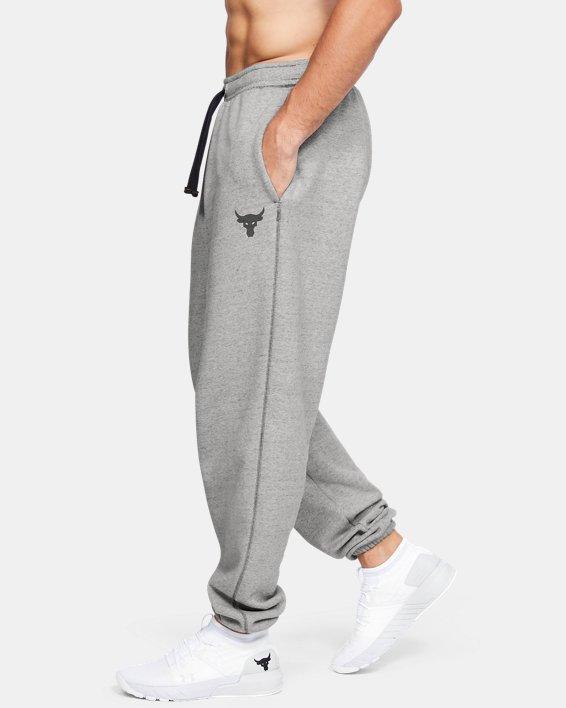 Men's Project Rock Warm-Up Pants, Gray, pdpMainDesktop image number 3