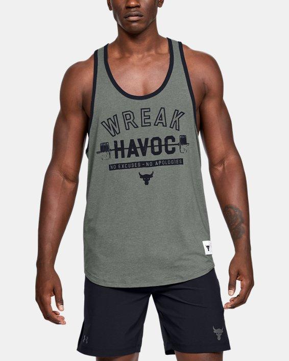 Men's Project Rock Wreak Havoc Tank, Gray, pdpMainDesktop image number 0