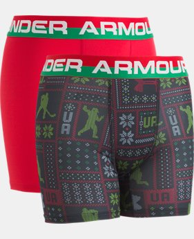 New Arrival Boys' UA Original Series Holiday Sweater Boxerjock® 2-Pack   1  Color Available $25