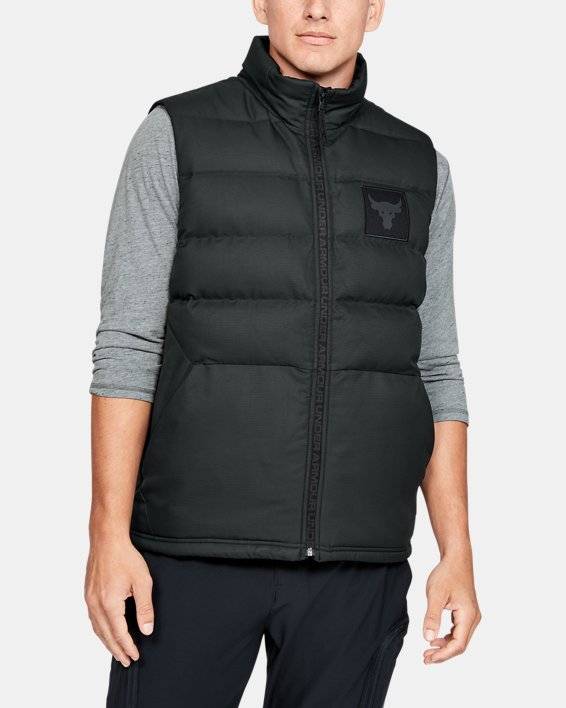 Men's Project Rock Vest, Black, pdpMainDesktop image number 1