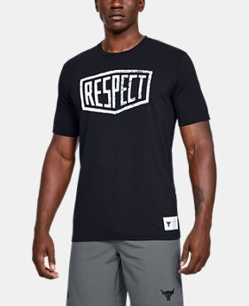 bde758b5 New Arrival Men's Project Rock Graphic Respect Short Sleeve 1 Color  Available $35