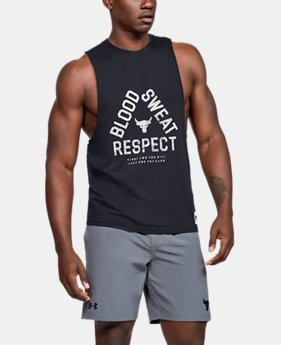 53346a80316a New Arrival Men's Project Rock Blood Sweat Respect Tank 2 Colors Available  $35