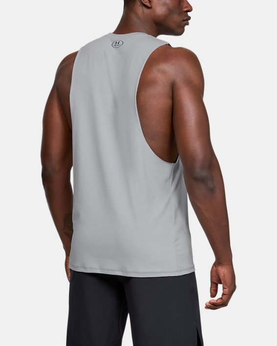 Men's Project Rock Blood Sweat Respect Tank, Gray, pdpMainDesktop image number 2