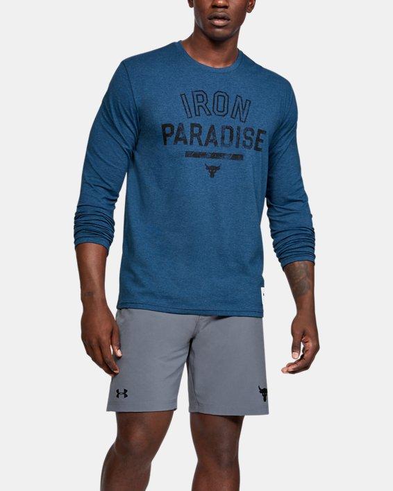 Men's Project Rock Iron Paradise Long Sleeve, Blue, pdpMainDesktop image number 0