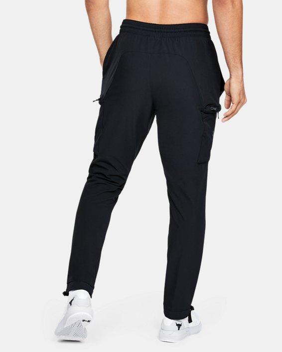 Men's Project Rock Woven Cargo Pants, Black, pdpMainDesktop image number 2