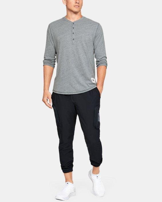 Men's Project Rock Woven Cargo Pants, Black, pdpMainDesktop image number 1